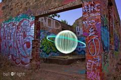 Ball of Light - Light Factory! (biskitboy) Tags: lightpainting graffiti rags tag ruin orb sphere round balloflight lapp 5dmkii 5dmk2