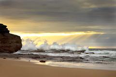 Austinmer Sunrise (stevoarnold) Tags: ocean morning blue sea sky seascape water sunrise rocks nsw southcoast crashing austinmer