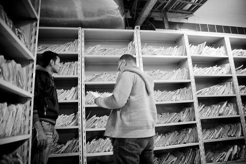 After storming the compound, Egyptian revolutionaries find their way to the archives room, where State Security kept files on citizens and activists.