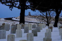 Last Stand Hill - Winter (WY Man) Tags: winter snow monument cemetery dead montana headstone marker marble 7th cavalry littlebighorn custer 7thcavalry lbh