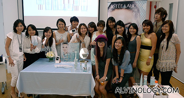 The Estee Lauder team with some of the bloggers who attended the workshop