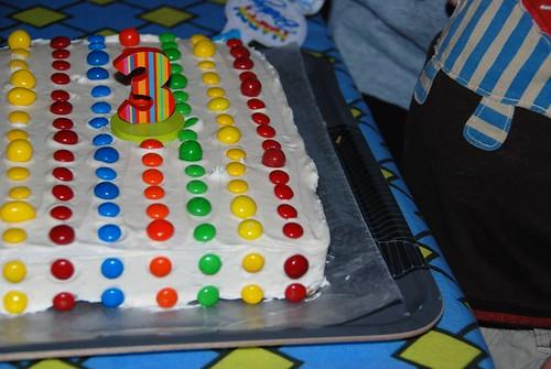 rainbow m & m cake