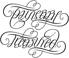 """""""Taylerre"""" & """"Treasured"""" Ambigram"""