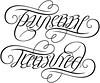 """Taylerre"" & ""Treasured"" Ambigram A custom ambigram"