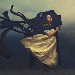 the day she made rain (brookeshaden) Tags: water fairytale umbrella haze dress surrealism streaks whimsical brookeshaden texturebylesbrumes
