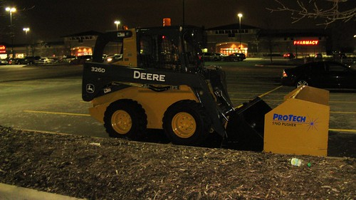 Small John Deere front end loader. Glenview Illinois USA. Tuesday night, March 8th, 2011. by Eddie from Chicago