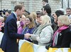 Prince William meets wellwishers outside City Hall in Belfast on March 8, 2010.