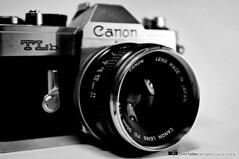 TLb (Ciccio Taddeo ) Tags: camera white black slr monochrome 35mm canon reflex nikon blackandwithe t