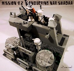 Mission 4.2 - Conquering Nar Shadaa (n7mereel) Tags: march starwars flickr lego flood sniper mission bazooka ba clone atte mereel 2011 11311 brickarms lacce n7mereel 457thcorps koltotanks