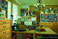 Craftroom/Home Office rearrange... again! (sweetpeatoad~) Tags: organize lekman craftroom yarns expedit ikeashelves