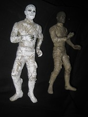 Two Boris Karloff as Imhotep Mummies - The Mummy 4604 (Brechtbug) Tags: new york city shadow two dusty halloween its monster sphinx museum wrapping toy toys dance scary sand ancient desert pyramid dancing action vampire tomb egypt wrapped twist covered egyptian figure horror terror pharaoh boris ash monsters universal alive mummy corpse creature archeology dig bandage mummies fright excavation antediluvian karloff imhotep