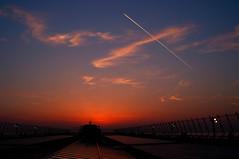 "20110226 Centrair 4 ""I'm fine."" (BONGURI) Tags: sunset contrail jetstream 愛知 aichi ricoh a12 tokoname 夕焼け vaportrail centrair 飛行機雲 gxr セントレア centraljapaninternationalairport 中部国際空港 chubuinternationalairport 常滑"