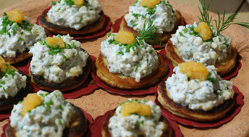 piret: potato pancakes, atlantic herring salad
