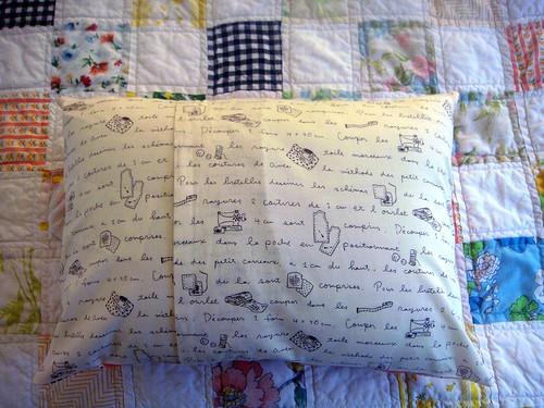 flea market fancy pillow, back