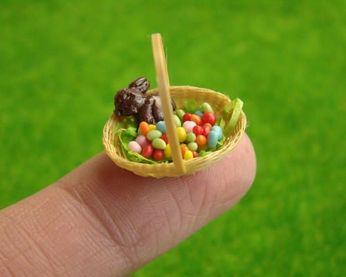 Easter 2011 - Miniature Rainbow Eggs Basket