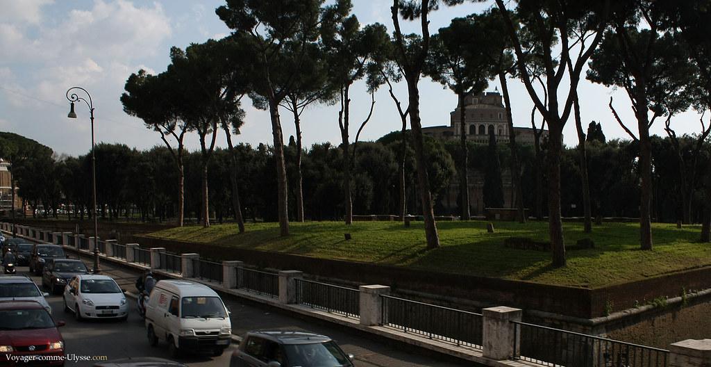 Jardin du Mausolée d'Hadrien, aujourd'hui le Château Saint-Ange