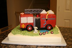 "Firetruck birthday cake • <a style=""font-size:0.8em;"" href=""http://www.flickr.com/photos/60584691@N02/5524762551/"" target=""_blank"">View on Flickr</a>"