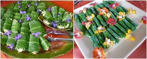 Flores orgânicas no prato