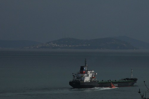 Boat in the Bosphorus