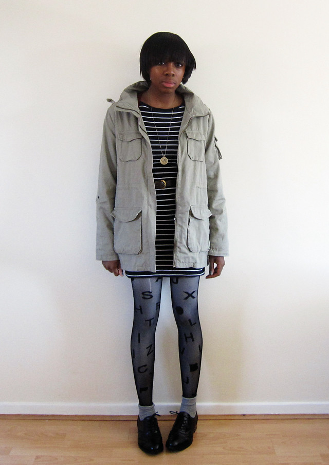 h&m cargo jacket alphabetights