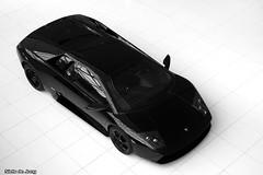Lamborghini Murcilago (Niels de Jong) Tags: above bw white black canon eos high utrecht angle top sigma highkey lamborghini 18200 a2 60 62 murcilago murcielago v12 lamborgini