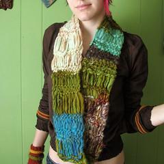 seascapes (vanessayvonne) Tags: wool seascapes handmade knit handknit yarn knitted homespun handspun cowl artyarn mobious
