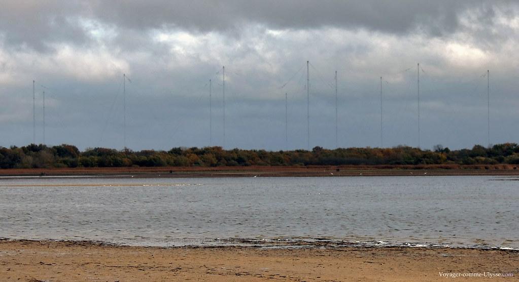 Les antennes du centre de transmissions de Rosnay