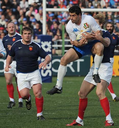 Andrea Masi contro la Francia