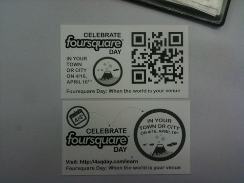 Celebrate Foursquare Day Cards