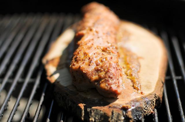 Planked Maple-Mustard Pork Tenderloin