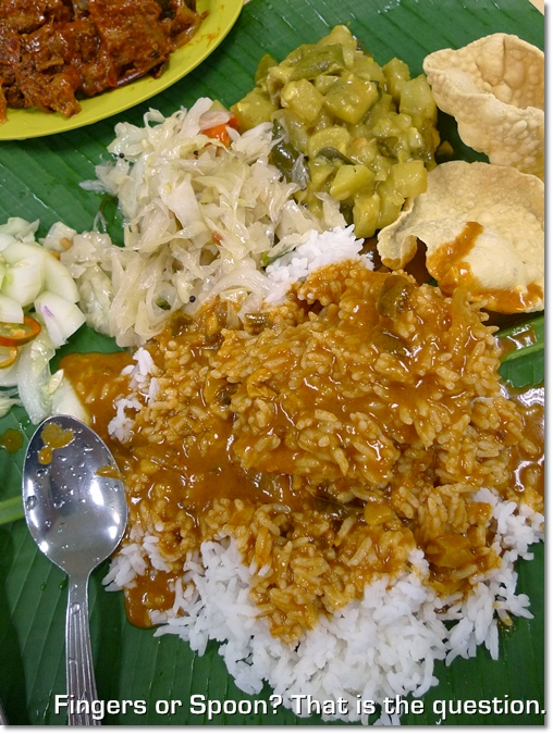 Banana Leaf Rice @ Raju