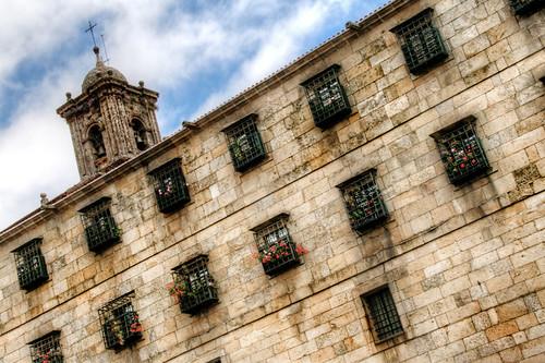 Windows and roses. Santiago de Compostela. Ventanas y rosas