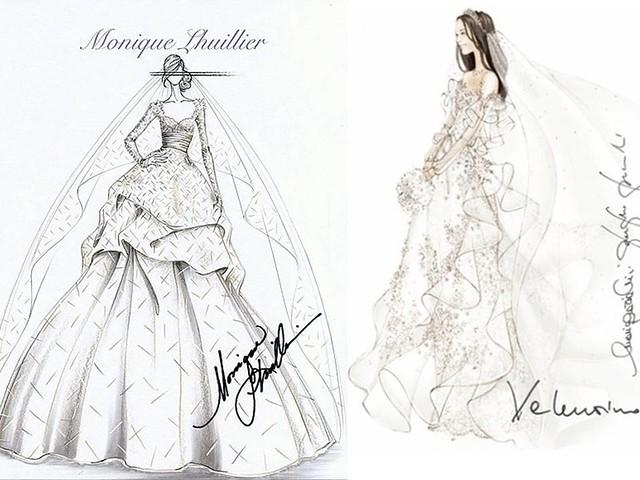 эскизы свадебных платьев: