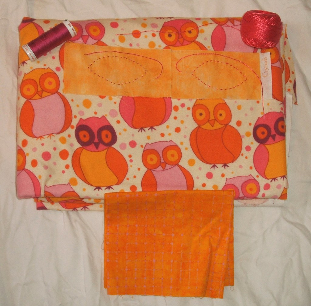 Yellow owl wholecloth - right fabric at last