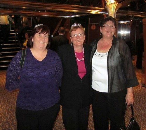 Myself, Sandee, and Barb Before Dinner at the Steakhouse