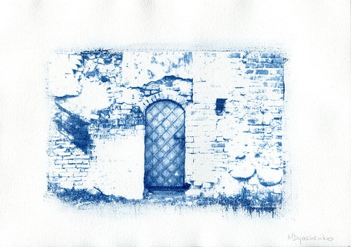 Cyanotype. Vilnius : Цианотипия. Вильнюс