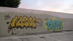 Neor & Floe 3CK (El Funky Taladro) Tags: county street orange green gold graffiti funky fresh anaheim bombing floe drippy 3ck neor