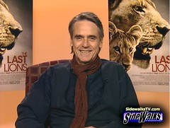 Jeremy Irons on Sidewalks TV (Sidewalks TV) Tags: actor interview sidewalks jeremyirons thelastlions dereckjoubert beverlyjoubert
