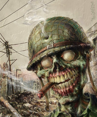 Zombie Sarge by The Gurch (The Gurch 25) Tags: dead war comic zombie horror undead ghoul livingdead walkingdead zombiewar theroyalwedding woldwar thegurch zombiesarge