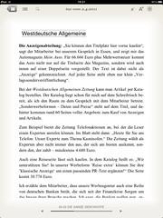 sonntaz: Westdeutsche Allgemeine (Zeitung) WAZ