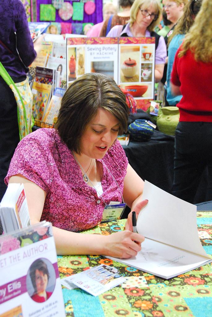 Spring Market - Amy Ellis signing her book