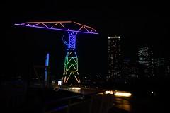DSC09191.jpg (ntstnori) Tags: building 35mm tokyo crane f14 sony illumination sigma  nightview koto lalaport toyosu    urbandock 99 slta99v 35mmf14dghsm