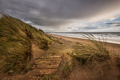(Ian McClure) Tags: ayrshire beach scotland pentax windy autumn