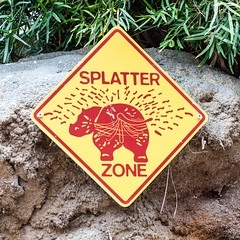 Splatter Zone (ThiloG) Tags: hinweis schild splatterzone zookln nikond5000 nikoncorporation