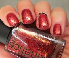 Kinetics Marlene (Simona - www.lightyournails.com) Tags: kinetics red orange foil esmalte smalto vernis unghie manicure nails nailpolish nagellack naillacquer nailswatch