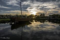 (shin4433) Tags: sky sunset ship  reflection cloud september japan nature