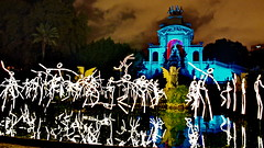 Stickman Ballet at Ciudadela Park in Barcelona (gerard eder) Tags: world travel reise viajes europa europe espaa barcelona katalonien catalua catalonia spain spanien lightshow lasershow stickman ciudadelapark night nightshow reflections spiegelung park parque parqueciudadela fiestadelamerced stickmanballet fun events