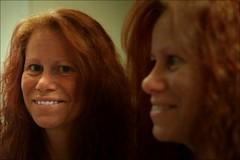 double me (*Kicki*) Tags: me self selfie selfportrait portrtt portrait mirror face smile sweden redhead ginger 50mm woman person people double