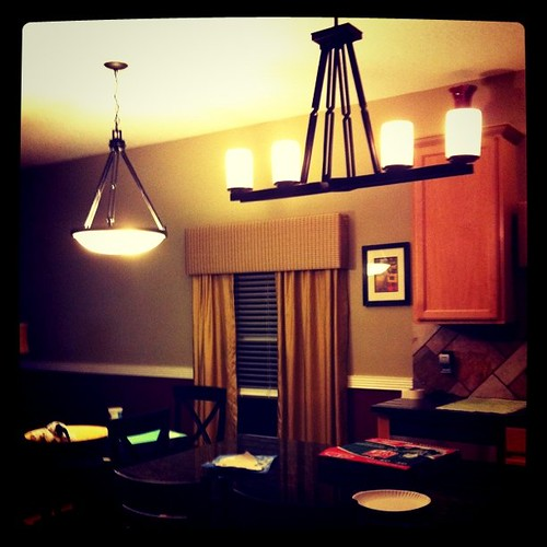 New kitchen lights, yay!