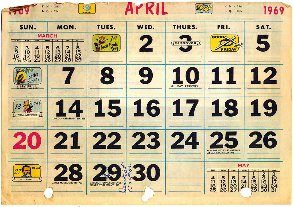 Calendar 1969.The World S Newest Photos Of 1969 And Calendar Flickr Hive Mind